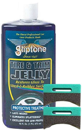 Gliptone Tire and Trim Jelly 16 oz & Applicator Pads Kit