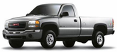 GMC Sierra 3500 HD Lund Elite Wide Style Textured Fender Flares (2003-2007)
