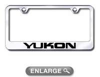 gmc yukon laser etched stainless steel license plate frame