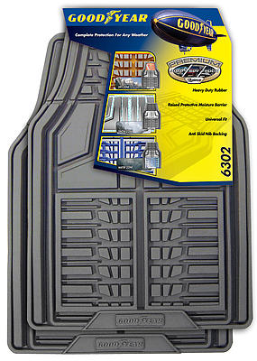 Goodyear 2 Piece Premium All Weather Rubber Mats