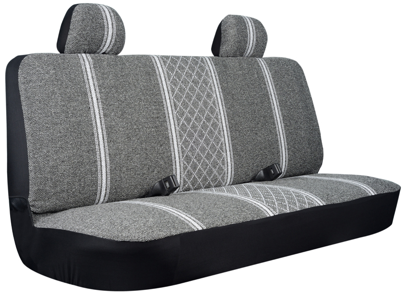Gray Diamond Back Truck Bench Seat Cover