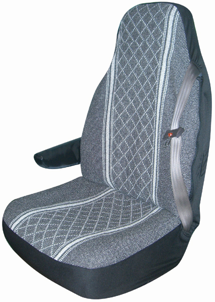 Gray Diamond-Back Truck Bucket Seat Cover Pair