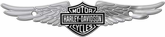 Harley-Davidson Bar & Shield w/ Wings - Chrome Tag Accessory