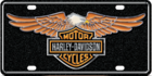 Harley Davidson Embossed Eagle Auto Tag