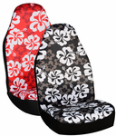 Hawaiian Print Universal Bucket Seat Covers (Pair)