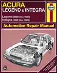 Haynes Repair Manual For Acura Integra & Legend (1986-1990)
