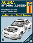 Haynes Repair Manual For Acura Integra & Legend (1990-1995)