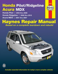 Haynes Repair Manual For Acura MDX & Honda Pilot and Ridgeline (2001-2012)