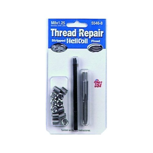 HeliCoil Thread Repair Metric Kit for M8x1.25 - 12 Inserts