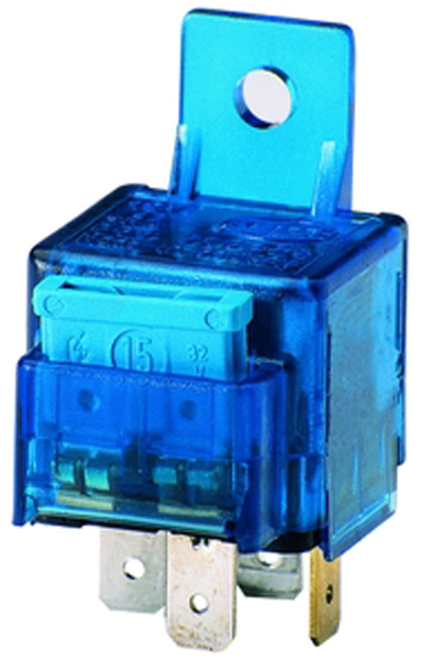 Hella 15 Amp SPST Mini Relay With Bracket & 15 Amp Blade Fuse