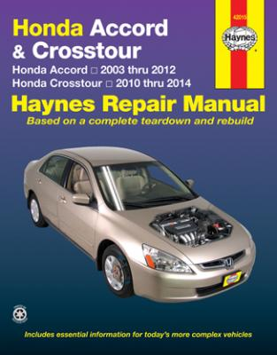 Honda Accord & Crosstour Haynes Repair Manual 2003-2014
