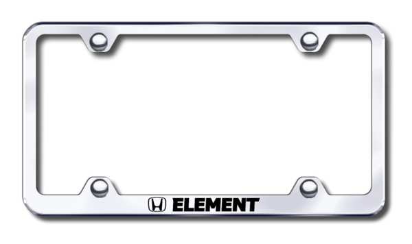 Honda Element Laser Etched Stainless Steel Wide License Plate Frame