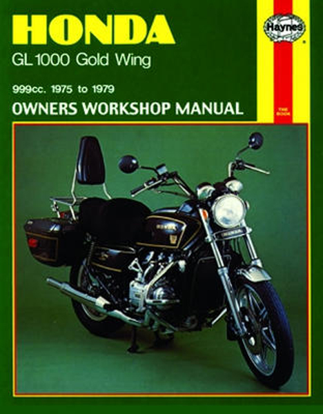 Honda GL1000 Gold Wing Haynes Repair Manual 1975 1979