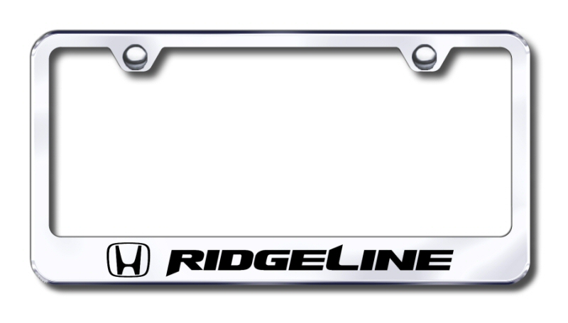 Honda Ridgeline Laser Etched Stainless Steel License Plate Frame