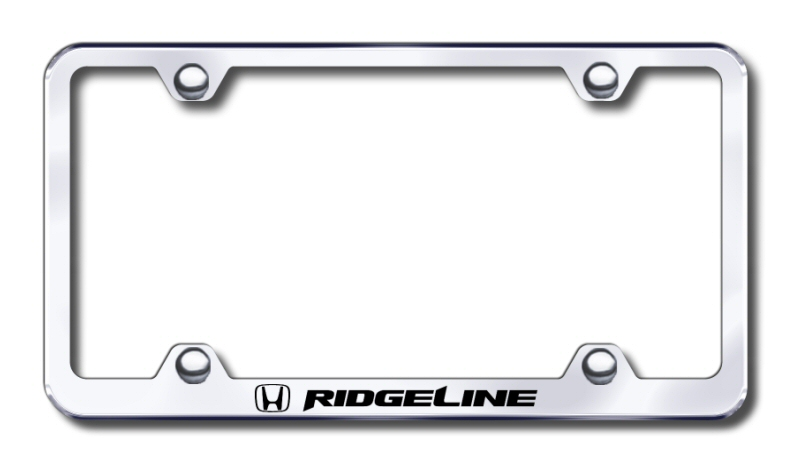 Honda Ridgeline Laser Etched Stainless Steel Wide License Plate Frame