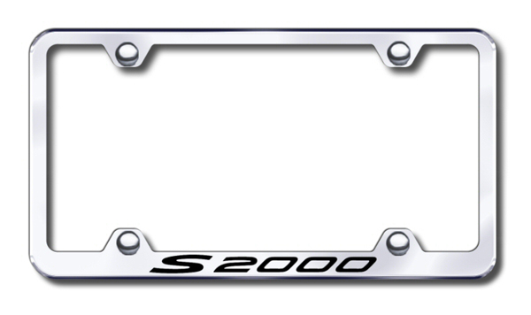 Honda S2000 Laser Etched Stainless Steel Wide License Plate Frame