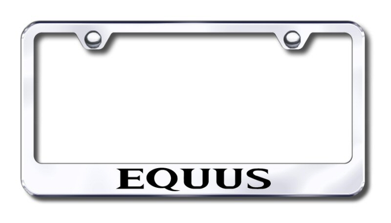 Hyundai Equus Laser Etched Stainless Steel License Plate Frame
