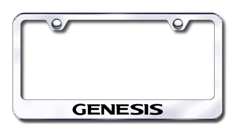 Hyundai Genesis Laser Etched Stainless Steel License Plate Frame