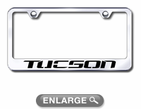 Hyundai Tucson Laser Etched Stainless Steel License Plate