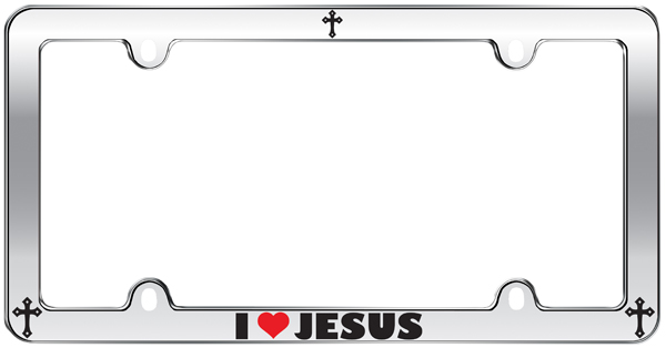I Love Jesus License Plate Frame