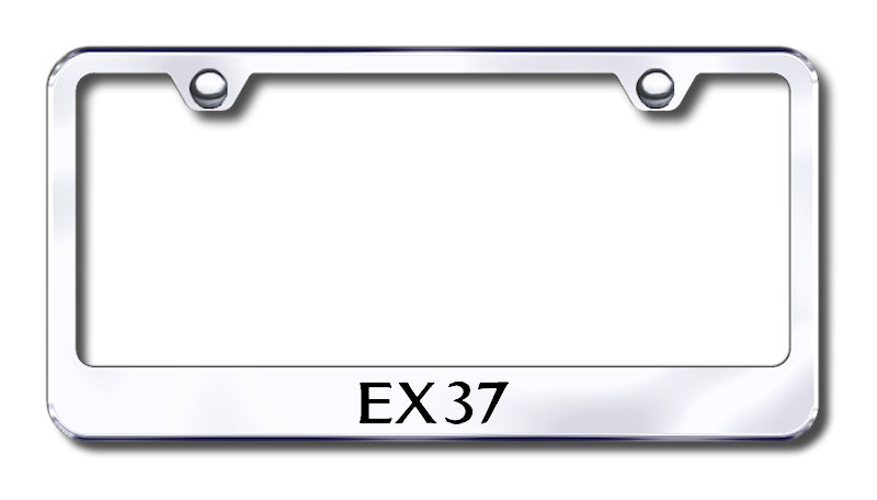 Infiniti EX37 Laser Etched Stainless Steel License Plate Frame