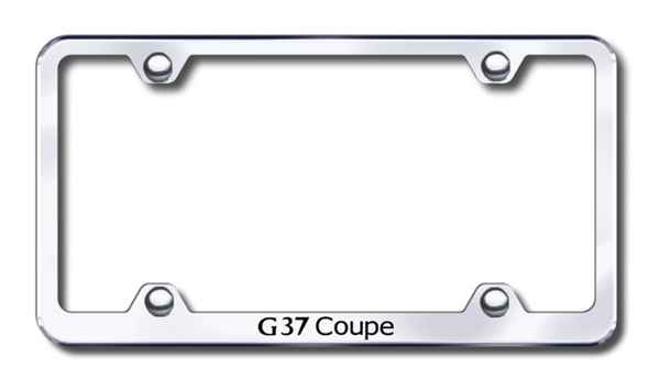 Infiniti G37 Coupe Laser Etched Stainless Steel Wide License Plate Frame