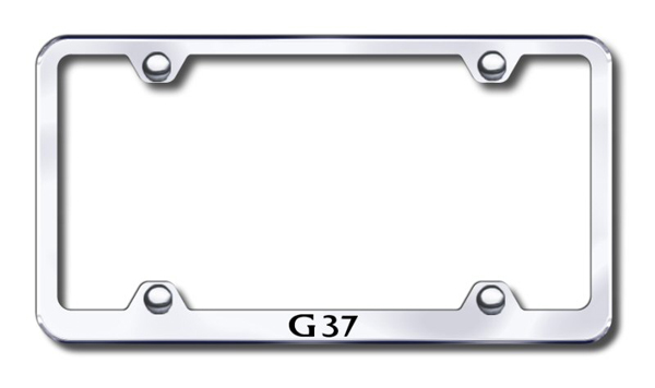 Infiniti G37 Laser Etched Stainless Steel Wide License Plate Frame