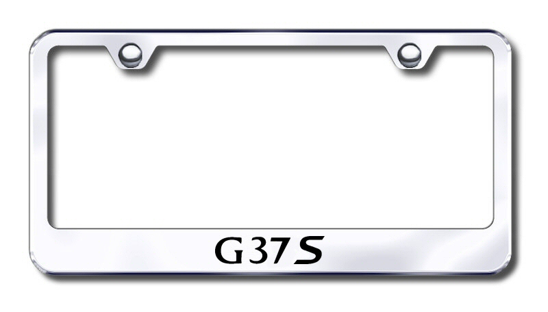 Infiniti G37S Laser Etched Stainless Steel License Plate Frame
