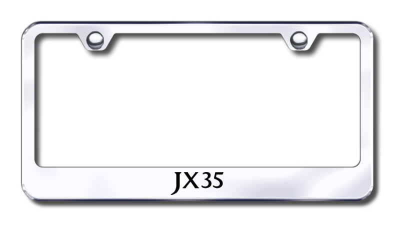 Infiniti JX35 Laser Etched Stainless Steel License Plate Frame
