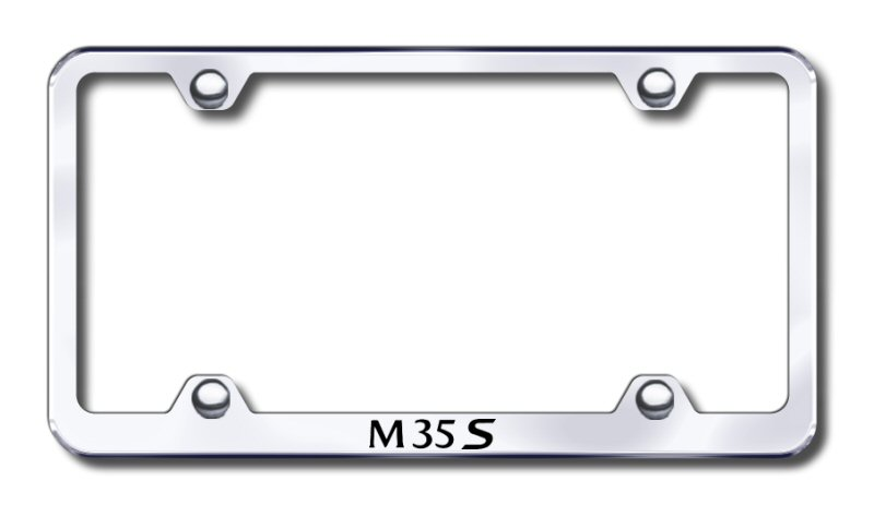 Infiniti M35S Laser Etched Stainless Steel Wide License Plate Frame