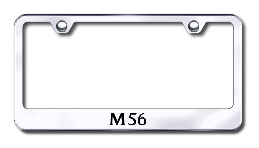 Infiniti M56 Laser Etched Stainless Steel License Plate Frame