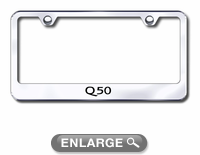 infiniti q50 laser etched stainless steel license plate frame