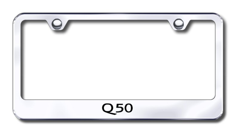 Infiniti Q50S Sport Chrome Metal License Plate Frame