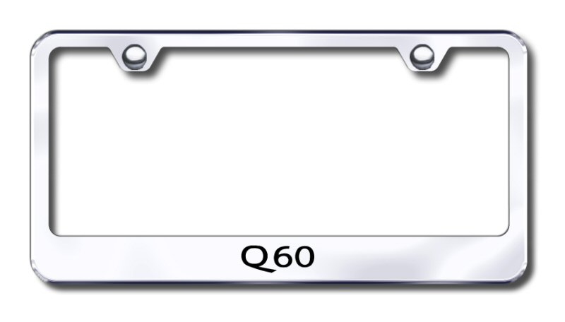 Infiniti Q60 Laser Etched Stainless Steel License Plate Frame