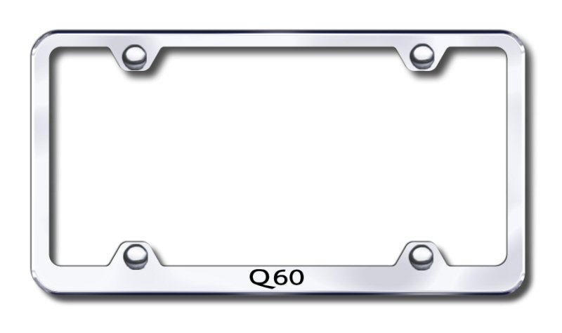 Infiniti Q60 Laser Etched Stainless Steel Wide License Plate Frame