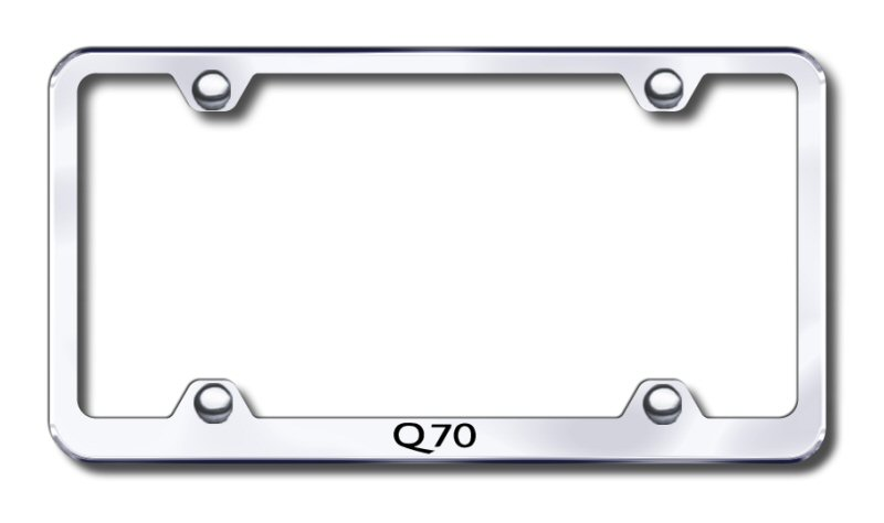 Infiniti Q70 Laser Etched Stainless Steel Wide License Plate Frame