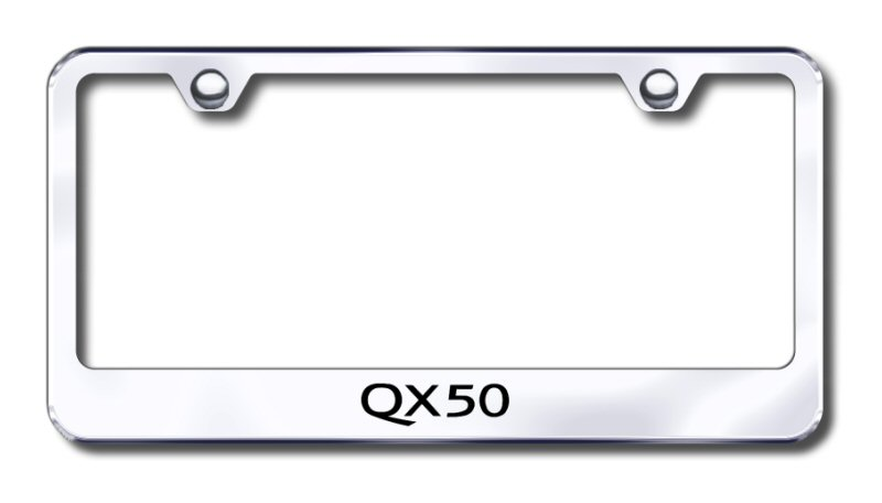 Infiniti QX50 Laser Etched Stainless Steel License Plate Frame