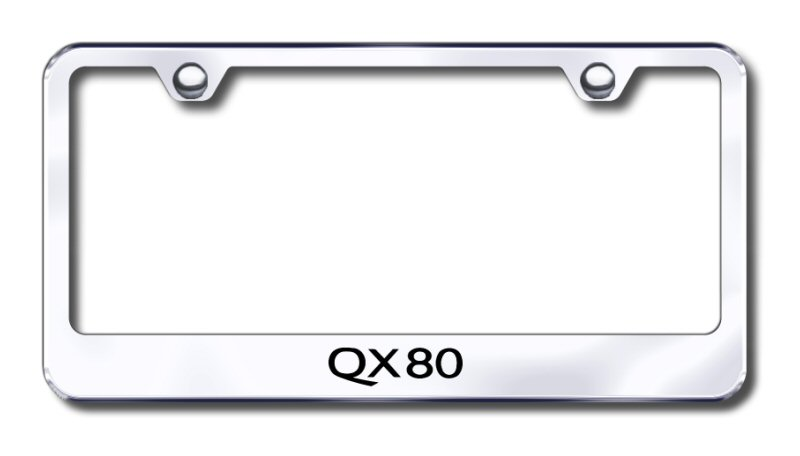 Infiniti QX80 Laser Etched Stainless Steel License Plate Frame