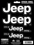 """Its A Jeep Thing"" Self Adhesive Decals"