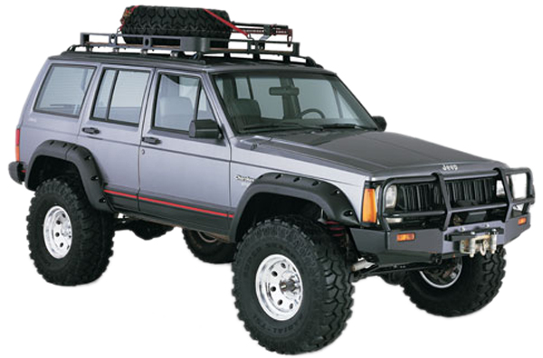 Jeep Cherokee Bushwacker Cut-Out Fender Flare Kit 1984-2001