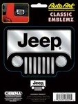 Jeep - Chrome/Black Embossed Decal