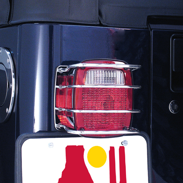 jeep cj wrangler stainless steel tail light euroguards pair 1976. Black Bedroom Furniture Sets. Home Design Ideas
