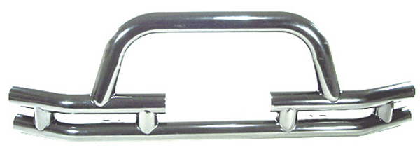 Jeep CJ Wrangler & Unlimited Stainless Steel Front Tube Bumper w/Winch Cut Out 1976-2006