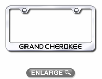 jeep grand cherokee laser etched stainless steel license plate frame