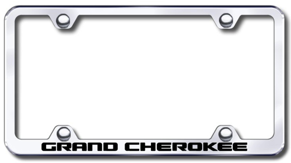 Jeep Grand Cherokee Laser Etched Wide Stainless Steel License Plate Frame