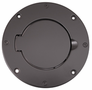 Jeep Wrangler Black Aluminum Billet Style Gas Cover (1997-2006)