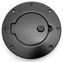 Jeep Wrangler Black Aluminum Locking Gas Hatch Cover (1997-2006)