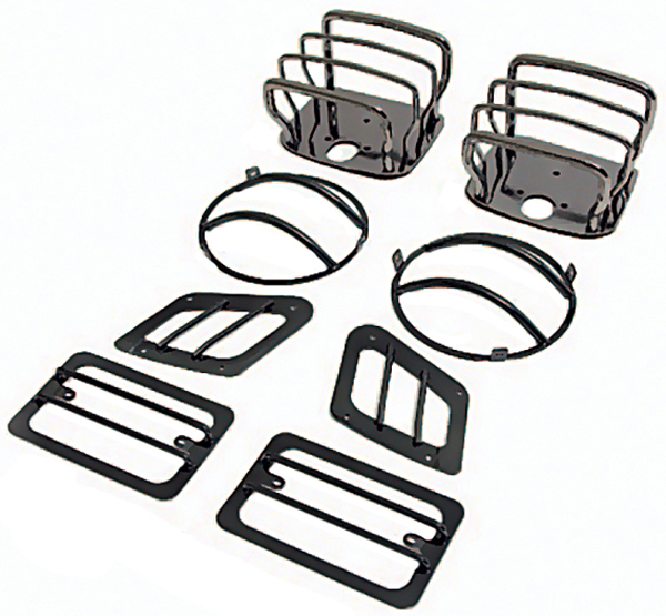 Jeep Wrangler Black Chrome Euro Guard Kit