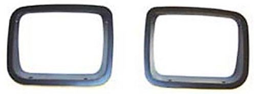 Jeep Wrangler Black Trim Headlight Bezel-Pair 1987-1995