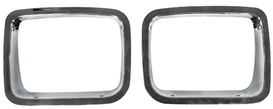 Jeep Wrangler Chrome Trim Headlight Bezel-Pair 1987-1995